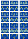 Cambridgeshire Flag Stickers - 21 per sheet